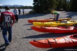 Kayaks in front of the Mendenhall Glacier lake.jpg