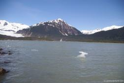 Mendenhall Glacier lake with waterfall in the distance.jpg