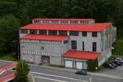 889 Franklin St Building with Red Roof Near Juneau Cruise Terminal