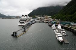 Cruise Ships Near or At Juneau Alaska