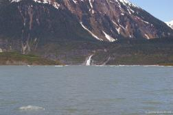 Waterfall at the Mendenhall Glacier lake.jpg