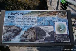 A Waterfall that Moved sign at the Mendenhall Glacier visitor area.jpg